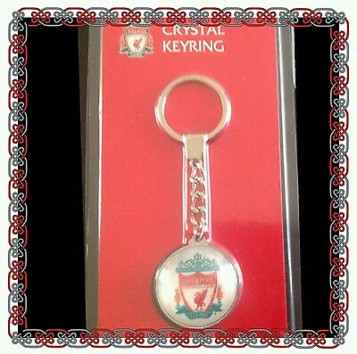 Liverpool Official Crystal Keyring Club Crest - Great Gift Idea!