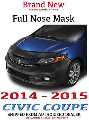 Genuine OEM Honda Civic 2dr Coupe Full Nose Mask 2014 - 2015 Excludes Si