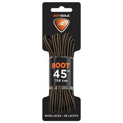 "Sof Sole Black/Brown Boot/Shoe Waxed Lace 60"" - 100% Polyester"