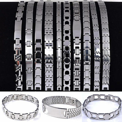 5/10pcs Wholesale Mixed Lots Men's High Quality Stainless Steel Link Bracelet