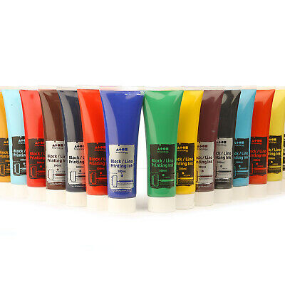Water Based Block Lino Printing Inks 9 Colours Ink Choose 300ml Easy to Use