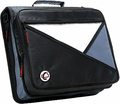 Case-it Black 2-Inch 3-Ring Zipper Binder Office School Organizer Storage