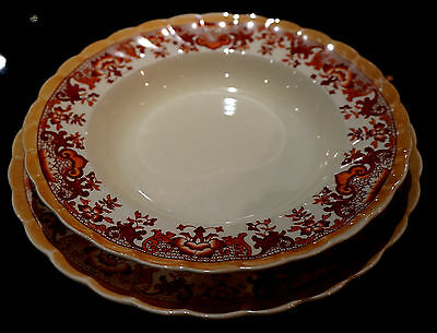 Antique Powell Bishop Stonier Oriental Ivory Soup And Plate Set
