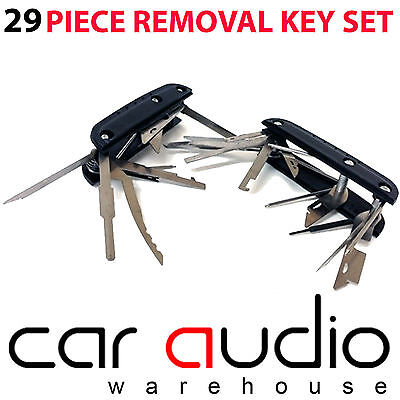 29 Pieces Folding Car CD Radio Stereo Release Removal Keys Set Tools CT22UV05