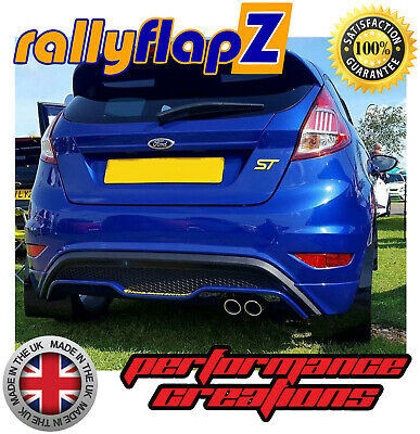 rallyflapZ FORD FIESTA ST180 (2013+) Qty4 Mud Flaps Kit & Fixings Black 4mm PVC