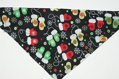 Dog Bandana, OVER THE COLLAR, scarf,clothes, Size S,M,L,XL, Mittens!