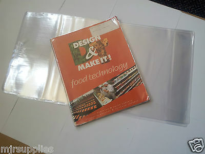 6 x  SCHOOL TEXT BOOK ADJUSTABLE COVERS 276mmm size clear plastic reusable!