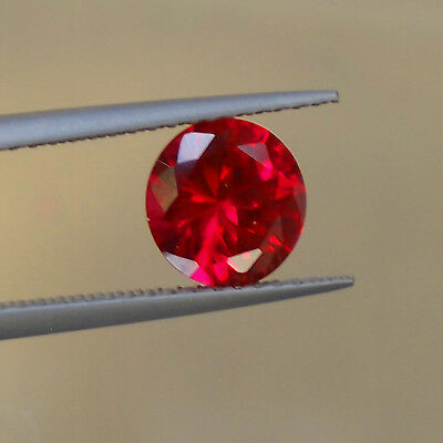 12 Mm Round Red Ruby Stone Lab Created Synthetic