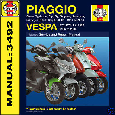Piaggio Fly B125 Beverly Liberty NRG 50 125 Scooters 1991-06 Haynes Manual 3492