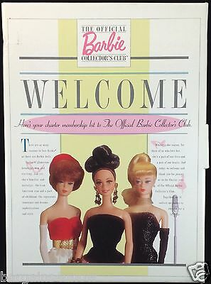 The Official Barbie Collector's Club Millicent Roberts Fashion Barbie Binder NIB