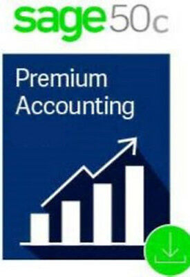 Sage 50 Peachtree 2017 & 18 PREMIUM 3 User+DVD+ BASIC SUPPORT (NOT SUBSCRIPTION)