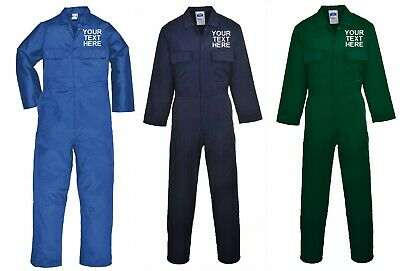 Portwest Custom Personalised Mechanics Overalls Workwear Boilersuit Coveralls