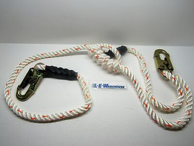 "Arborist Lineman Spyder Climb Right 5/8"" 4-7Ft 3 Strand Rope Lanyard 75111"