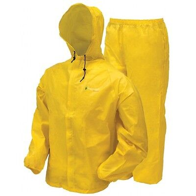 Frogg Toggs Ultra Lite 2 Rain Suit w/ Storage Bag Yellow UL12104-08 CHOOSE SIZE
