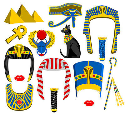 DIY DIGITAL Egypt inspired photo booth props NO PHYSICAL ITEM