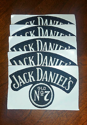 5 JACK DANIELS Old #7 Whiskey PATCHES - Embroidered Sew on / Stick on - NEW