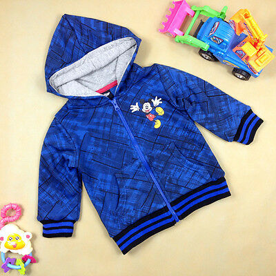 NEW Disney Baby Mickey Mouse Kids Boys Zip Hoodie Jacket, Size 2.4.6