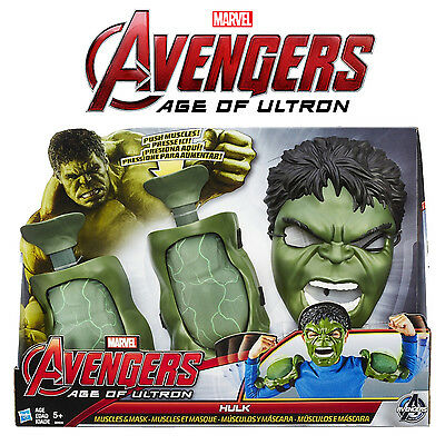 Marvel Avengers Age Of Ultron Incredible Hulk Push Muscles And Mask! Age 5+