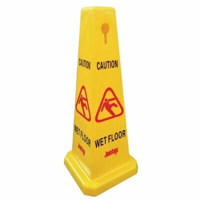 Jantex Cone Wet Floor Safety Sign Four Sided and Free Standing Made of Plastic