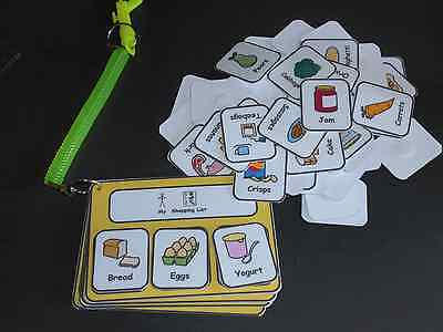 Shopping List Keyring Visual Support/Aid for Autism/ASD/SEN/Learning Difficulty