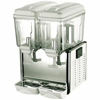 Polar Double Chilled Juice To Drink Dispenser 2X12Ltr/635X420X450mm Grey Pump