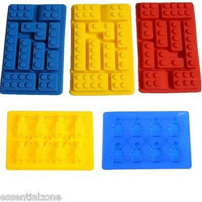 Lego Brick Ice Cube Tray Silicone Chocolate Block Mould Jelly Mold Party Bar