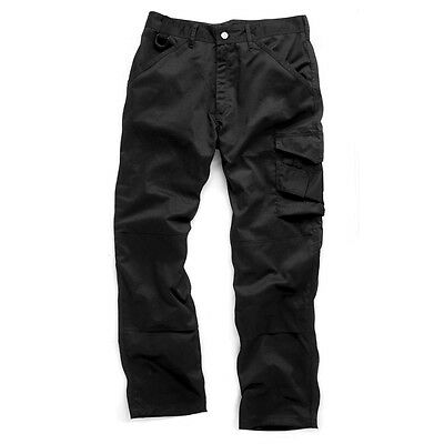Scruffs Black Worker Trousers - Active Fit Work Pant NEW