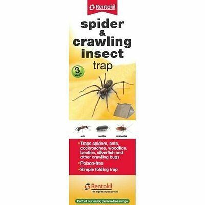Rentokil Spider & Crawling Insect Traps - 3 Pack