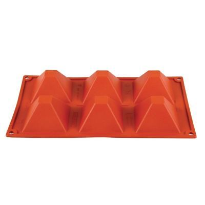 Pavoni Formaflex Silicone 6 Pyramid Mould 4X7X7cm Baking Tool Dishwasher Safe