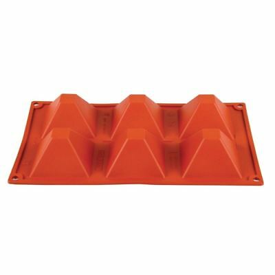 Pavoni Formaflex Silicone 6 Pyramid Mould Oven Freezer and Dishwasher Safe