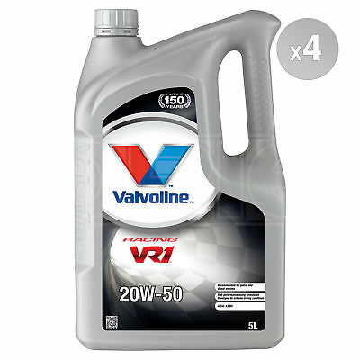 Valvoline VR1 Racing 20W-50 Refined 20W50 Mineral Engine Oil 4 x 5 Litres 20L