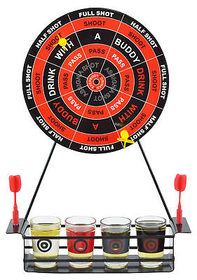 Novelty Magnetic Darts Shots Drinking Game - Fun Party Alcohol Booze Gift Set