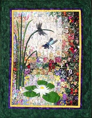 Whims Watercolour Quilt Kits Dragonflies and Lilypads Quilting Supplies. Best Pr