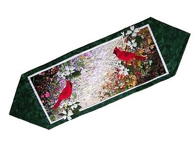 Whims Watercolour Quilt Kits Cardinal Table Runner Quilting Supplies. Shipping I