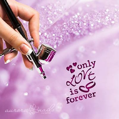 Airbrush sticky templates TX092 NAILART love is forever Lettering love Text
