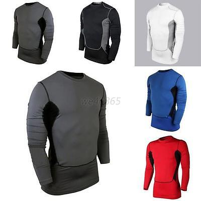 Compression Men Sports Wear Athletic Tops Pro Base Layer Long Sleeve T-Shirt Hot