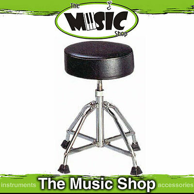 Powerbeat Heavy Duty Height Adjustable Drum Stool - Extra Stable Drum Throne