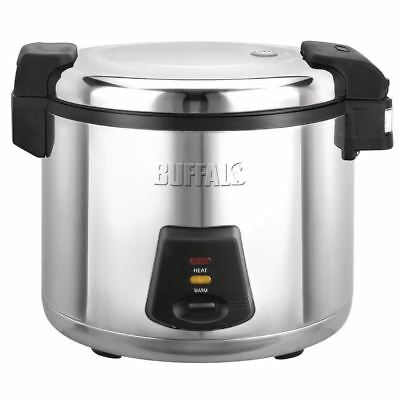 Buffalo Electric Rice Cooker 6Ltr Commercial Kitchen Stainless Steel 52 Portions