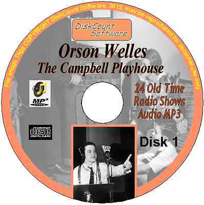 Orson Welles -The Campbell Playhouse 24 Old Time Radio Episodes OTR MP3 CD No1