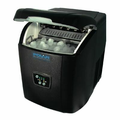 Polar Countertop Ice Maker 11Kg Output Black Manual Fill Machine