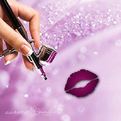 Airbrush sticky templates L041 NAILART Love Kiss Mouth Lip Wedding 80x