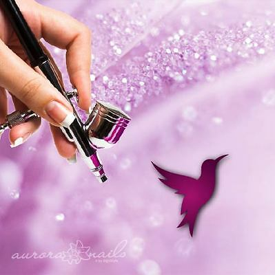 Airbrush sticky templates M511 NAILART Animal Hummingbird Bird Autumn Spring