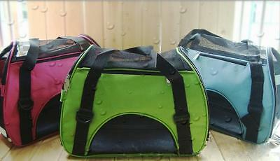 Pet Carrier Soft Sided Cat / Dog Comfort Shoulder Bag Travel Approved 3 sizes