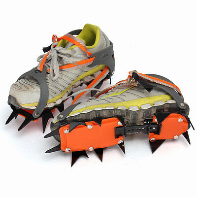 12-Teeth Winter Snow Boot Shoe Covers Spike Crampons - Gripper Climbing Walking