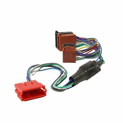 Amplified Active ISO Radio Stereo harness adaptor wiring connector for Audi