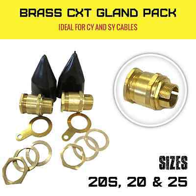 Brass Cy And Sy Cable Glands Braided Cxt Termination Gland Pack Waterproof Ip66