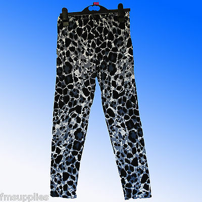 Girls Leopard Print Leggings Viscose/Elastane Age 7 - 13 Years *Fast despatch