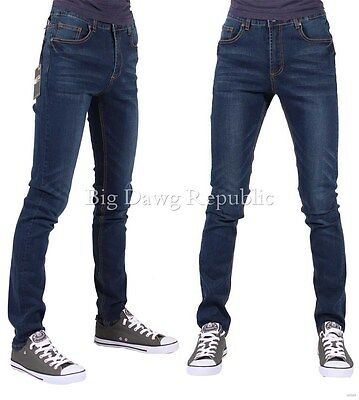 G-King Mens Boys Designer Skinny Super Star Stretch Jeans Is Time Money Hip Hop