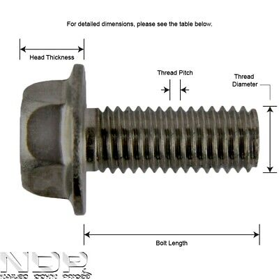 M8 8mmØ ALL SIZES A2 Stainless Steel Hexagon/Hex Head Flange Metric Bolts/Screws