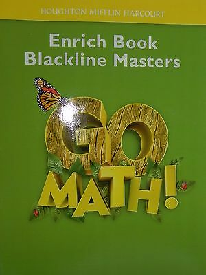 GO MATH! ENRICH Book Blackline Masters 1st Grade Level 1